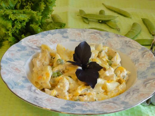 Рецепт пасты с цыпленком в сливочно-сырном соусе