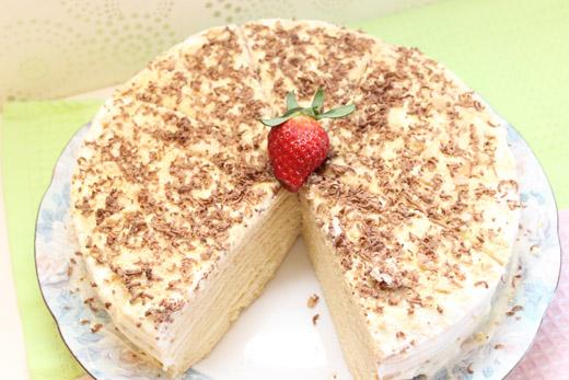 Торт медовый с кремом из маскарпоне