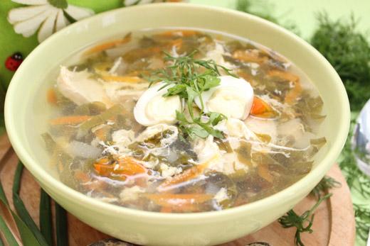 Как приготовить суп с щавелем и яйцом