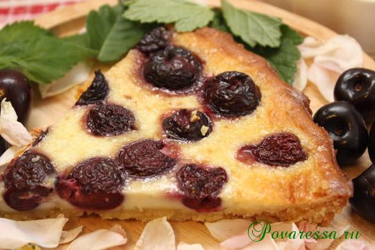 Рецепт пирога с черешней с фото