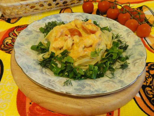 Рецепт пасты с рыбой, пошаговой приготовление с фото